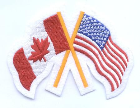canada united states friendship flag patch 3 25 x 4 25 canada