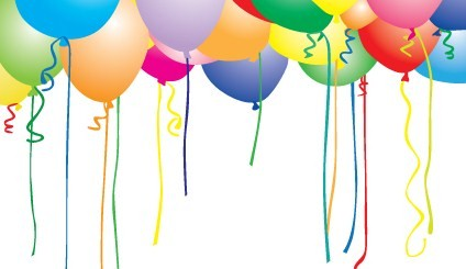 Birthday Ballons Flag 36 x 60 (90 x155cm) knit Polyester